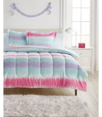 dream factory tie dye stripe comforter bed in a bag, full bedding