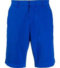 fay straight leg shorts - blue