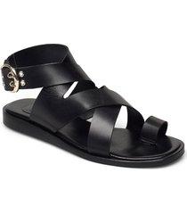 sandals 2724 shoes summer shoes flat sandals svart billi bi