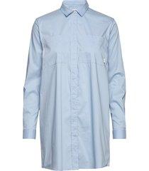 office shirt overhemd met lange mouwen blauw makia