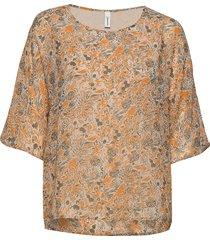 sc-gabriele blouses short-sleeved brun soyaconcept