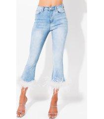 akira olivia feather hem cropped jeans