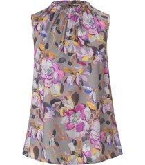 mouwloze blouse staande kraag van uta raasch multicolour