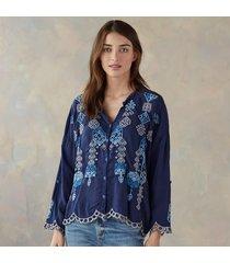 bali button down blouse