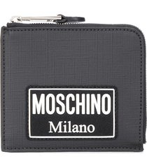moschino square wallet - black