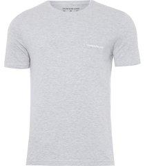 t-shirt masculina bolso peito - cinza