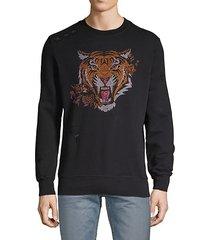printed fleece cotton sweatshirt