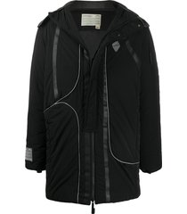 a-cold-wall* hooded zip-up parka - black