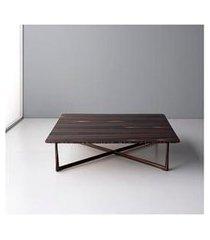 mesa de centro quadrada flat ébano catedral - doimo