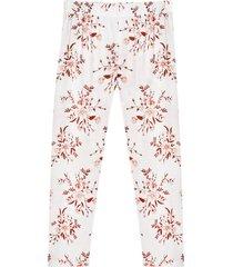 pantalón pijama mujer floral color blanco, talla xs