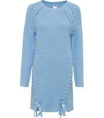 maglione lungo con stringatura (blu) - bodyflirt