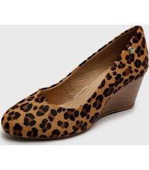 zapato de vestir cuero leopardo multicolor bottero