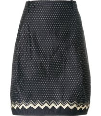 versace pre-owned polka-dot tulip skirt - blue