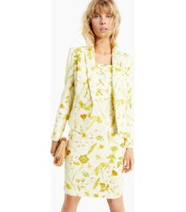 inc floral-print denim blazer, created for macy's
