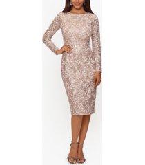 xscape sequin & lace dress