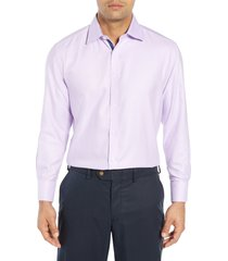 men's english laundry regular fit solid dress shirt, size 16 - 34/35 - purple
