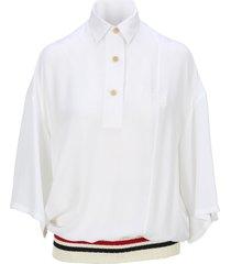loewe ribbed trim polo shirt