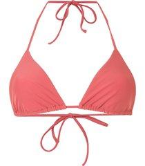 matteau string triangle bikini top - red