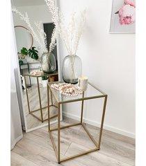 tia gold - stolik pomocniczy ze szklanym blatem