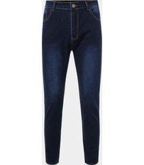 hombre casual color sólido stretch skinny jeans