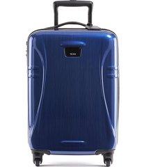 tumi international hard shell carry-on luggage - cha cha blue