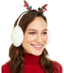 charter club cable knit reindeer earmuffs, created for macy's