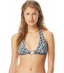 bikini top graphic leopard bandeau