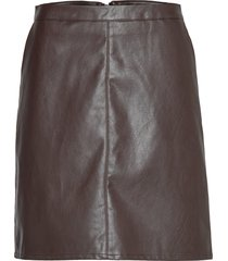 sl tamara pu skirt kort kjol brun soaked in luxury