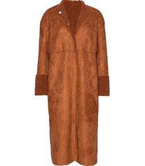 reversible jacket w. curly look coats wool coats bruin coster copenhagen