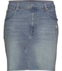 pl deconstructed skirt gateway kort kjol blå levi's plus