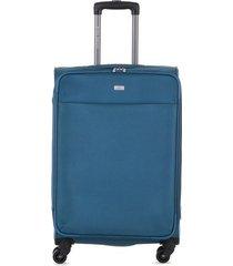 maleta de viaje mediana textil ruedas 360 94116 azul marino 24.5