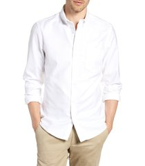 men's 1901 slim fit washed oxford shirt, size x-small - white