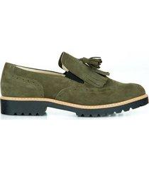 skórzane półbuty zapato 247 oliwka