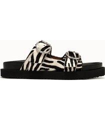 buttero sandali roulotte fantasia zebrata