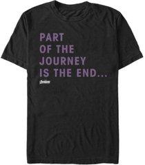 marvel men's avengers endgame part of the journey short sleeve t-shirt