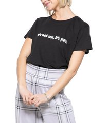 women's sub urban riot it's not me it's you graphic tee, size small - black