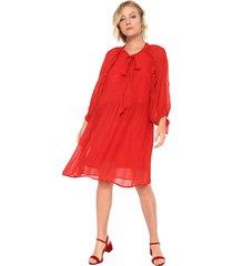 vestido mng barcelona midi laço cupki vermelho