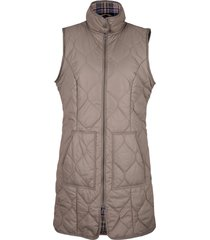 gilet trapuntato lungo con bottoni a pressione (marrone) - bpc bonprix collection