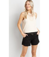 maurices womens black belted utility pocket 5in shorts