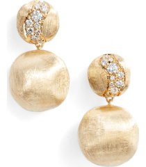marco bicego africa constellation diamond & 18k gold earrings in yellow gold at nordstrom