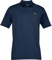 camiseta polo under armour performance textured para hombre - azul oscuro