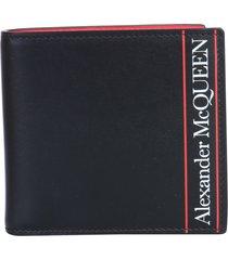 alexander mcqueen bifold logo wallet