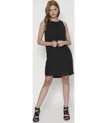 vestido fashion ancho negro 609seisceronueve