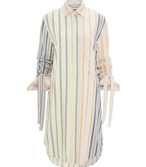 striped multicolored shirt dress