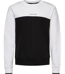 color block sweatshirt sweat-shirt trui wit calvin klein