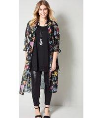 lange blouse sara lindholm zwart::rood