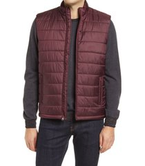 men's bugatchi quilted vest, size large - red