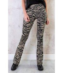 flared broek zebra