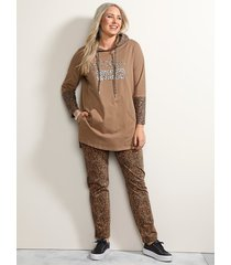 broek miamoda camel::bruin