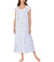 eileen west cotton venise lace floral-print ballet nightgown